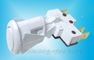 Кнопка розжига конфорок и духовки плиты Дарина белая ПКН-506 овальная белая