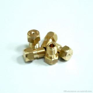 Сопла жиклёры плиты Дарина GM 341-001...010 (набор для сжиженого газа Р=3000 Па)