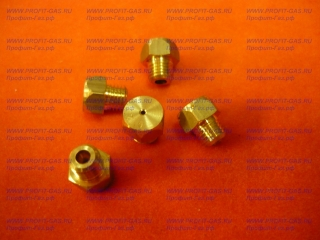 Сопло для газовой плиты М6 х 0,75 диаметр отверстия-1,37 мм