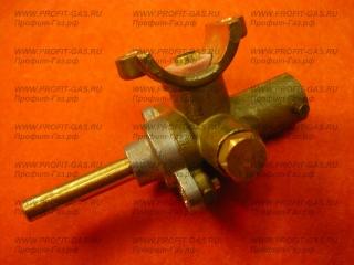 Кран большой горелки конфорки газовой плиты Брест-300 (диаметр сопла 65) (природный газ)