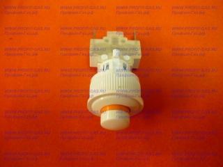 Кнопка подсветки духовки плиты Гефест круглая белая ПКН-507.2