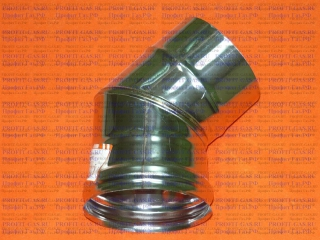 Уголок 45°, d- 80мм (AISI 430/0.5мм) 3 секции