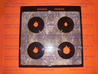 Стол газовой плиты GEFEST-1500-00 К19 для горелок SOMIPRESS, коричневый мрамор