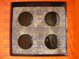 Стол газовой плиты GEFEST-1500-00 К19 (до 10.2008г.в.) для горелок SABAF, коричневый мрамор