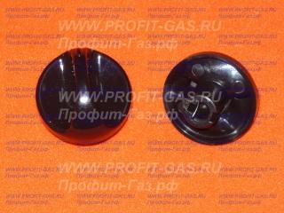 Ручка крана конфорки газовой плиты Гефест-1100, Гефест-3100 без кольца черная