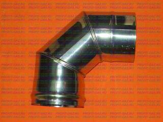 Уголок 90°, d-125мм (AISI 430/0.5мм) 3 секции