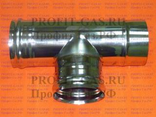 Тройник Д 90° (AISI 430/0.5мм) d-100мм
