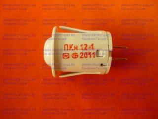 Кнопка подсветки духовки плиты Лысьва, ПКН-501-2 белая (аналог ПКН-12)