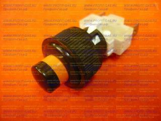 Кнопка подсветки духовки Гефест круглая коричневая ПКН-507.2-443
