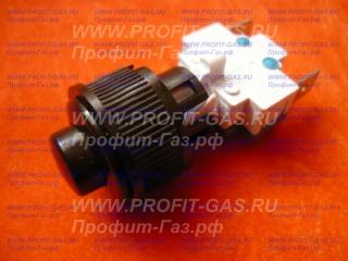 Кнопка розжига конфорок газовой плиты Гефест круглая коричневая ПКН-508.2-444