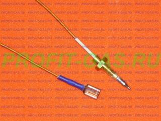 Термопара горелки конфорки газовой плиты Indesit длина 600 мм (оголовок L-38мм)