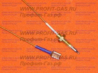 Термопара горелки конфорки газовой плиты Indesit длина 600 мм (оголовок L-34мм)
