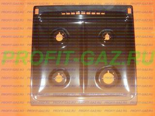 Стол газовой плиты Гефест GEFEST ПГ 6100-01 0001 с розжигом эмалированный коричневый для горелок SOMIPRESS