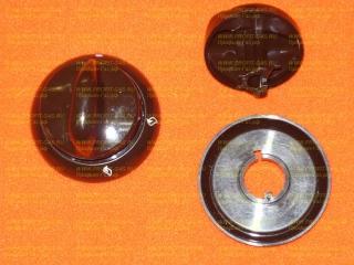 Ручка крана конфорки газовой плиты Гефест-1200, Гефест-3200 с кольцом коричневая