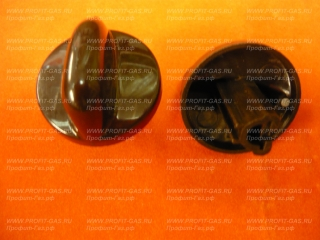 Ручка крана конфорки газовой плиты Гефест-1200, Гефест-3200 черная без кольца