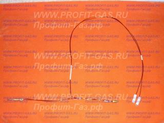 Термопара к электромагнитному клапану газовой колонки NEVA LUX 5011, NEVA LUX 5013, NEVA LUX 5014, NEVA LUX 5016 для узла Mertik 2-проводная (провод датчика L-750 мм)