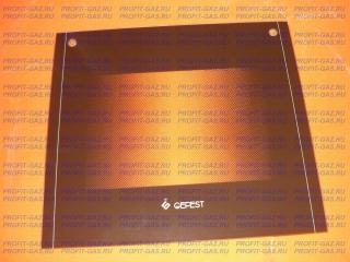 Стекло духовки наружное Гефест 5100, 5140 (498*448мм) коричневое с отверстиями
