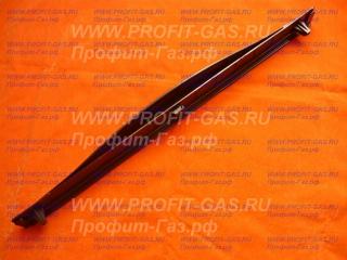 Ручка дверки духовки Гефест 1100, Гефест 1200, Гефест-1200 С5, Гефест-1200 С6, Гефест-1200 С7 до 2004г.в. коричневая