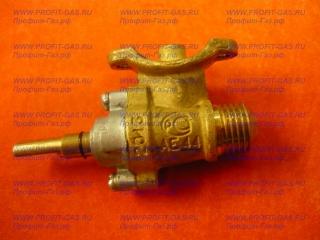 Кран средней горелки конфорки газовой плиты Брест-1457 (диаметр сопла 40) (природный газ) М14*1,5