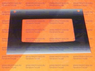 Стекло наружное GEFEST-1140 черное, с отверстиями для ручки духовки (598х442мм)