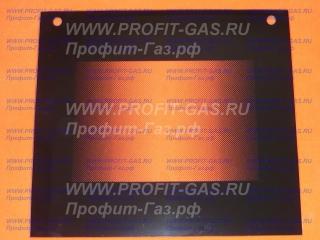 Стекло духовки наружное GEFEST-2160 черное с отверстиями (496х442мм)