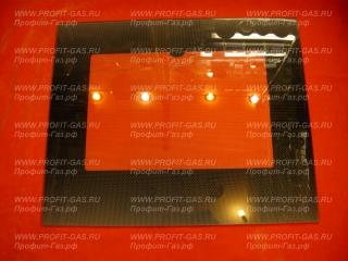 Стекло наружное GEFEST-3100, GEFEST-3200 коричневое с термоуказателем (497х408мм)