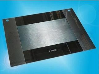 Стекло наружное GEFEST-1500 К32 до 2007г.в. черное с отверстиями (598х450мм)