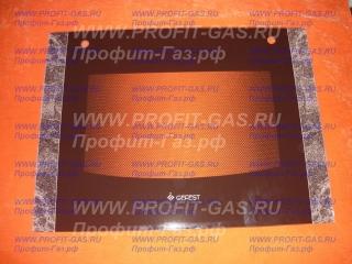 Стекло наружное GEFEST-1300, GEFEST-1500 коричневый мрамор с отверстиями (598х446мм)