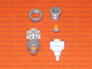 Кнопка подсветки духовки Гефест круглая серебро ПКН-507.2-223