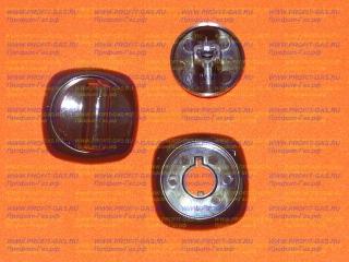 Ручка газового крана конфорки, духовки и таймера газовой плиты Гефест-1300, Гефест-1500, Гефест-3300, Гефест-3500, GEFEST-6300, GEFEST-6500 с кольцом коричневая