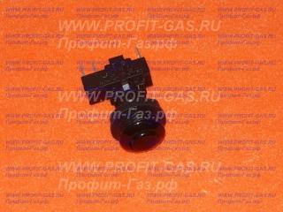 Кнопка розжига ПКН-526.2-222 черная для газовой плиты GEFEST-1500 К32, GEFEST-1500 К33