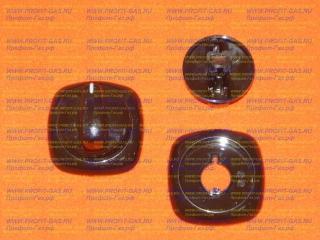 Ручка крана конфорки Гефест-6100, GEFEST-6140 коричневая с кольцом