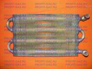 Теплообменник радиатор газовой колонки ВПГ-23М, НЕВА-3208 (с1986г.в.) плоский