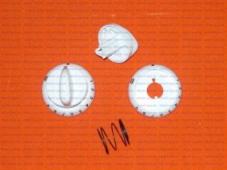 Ручка крана духовки газовой плиты Гефест-1200, Гефест-3200 с кольцом белая