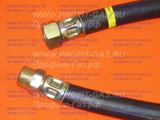 """Шланг газовый резинотканевый 3/4"""" (ДУ-20) длина 1,0м гайка/штуцер"""