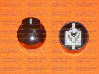 Ручка крана духовки газовой плиты Гефест-5100-02 К, GEFEST 5100-02 СК , GEFEST-5140 К короткая ножка коричневая