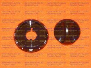 Ручка таймера газовой плиты Гефест-1100, Гефест-3100 с кольцом коричневая