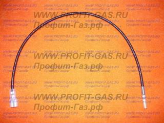 Кабель пьезорозжига SIT длина-600мм для газового котла Лемакс, контакты d-2,4 мм х фастон 6,3мм (0.028.409)