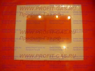 Стекло духовки наружное Брест-300 (402х478 мм) белое с термоуказателем