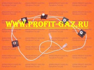 Блок кнопок автоматического электророзжига для плиты GEFEST-6100-03, GEFEST-6100-04, GEFEST-6300-02, GEFEST-6300-03, GEFEST-6300-04, GEFEST-6500-03, GEFEST-6500-04 (WZ2/BY.5)