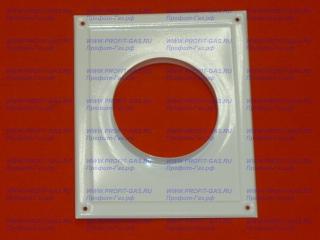 Площадка торцевая 200х240мм для крепления воздуховода d-100мм (металлическая, эмаль белая)