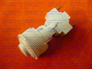 Кнопка розжига газа для плиты Гефест круглая белая ПКН-508.2-111