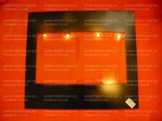 Стекло духовки внутреннее Гефест-1200, Гефест-1500, Гефест-6100, Гефест-6500, Гефест-1140, Гефест-ДА122, Гефест-ДА602 (485х435мм)