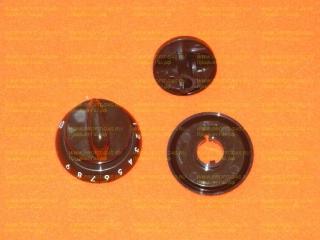 Ручка крана духовки газовой плиты Гефест-1200, Гефест-3200 с кольцом коричневая