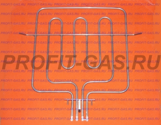 Нагревательный элемент ТЭН в духовку электроплиты Дарина ЕМ341, Дарина ЕМ331, Дарина ЕМ241 верхний (сдвоенный с ТЭНом гриля)