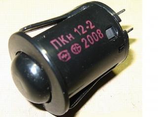 Кнопка подсветки духовки Гефест, Брест ПКН-12 черная