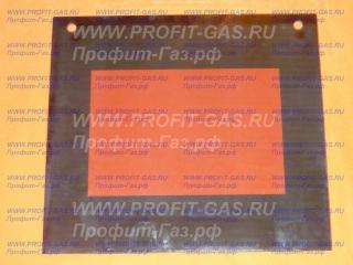 Стекло духовки наружное Гефест-3200 К60, Гефест-3200 К61, Гефест-3200 К62 (497х442мм) зеркальное