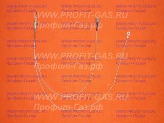 Термопара газовой плиты Дарина GM341 на дальние горелки (длинна L- 455 мм) под фастон