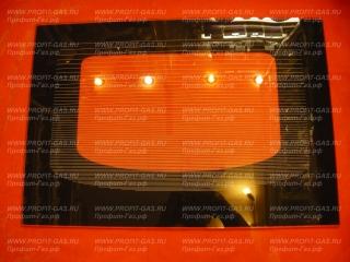 Стекло духовки наружное Гефест-1100, Гефест-1140 (595мм х 415мм) коричневое