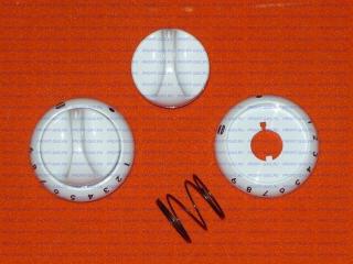Ручка крана духовки газовой плиты Гефест-1100, Гефест-3100 с кольцом белая